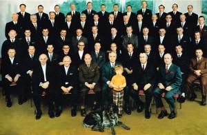 MAYBAUM-Mitarbeiter mit 25-30jähriger Betriebszugehörigkeit um 1972