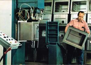 MAYBAUM Schweißmaschine für Backröhren um 1972