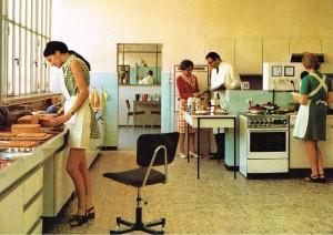 Die MAYBAUM Versuchsküche um 1972